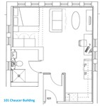 Chaucer Building, City Centre (R0R), 1 bed Studio in City Centre-image-5